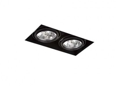 GINGKO-2 Black downlight without frame Faro