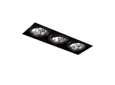 GINGKO-3 Black downlight without frame Faro
