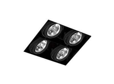 GINGKO-4 Black downlight without frame Faro
