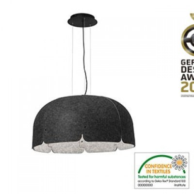 MUTE LED Dark grey pendant lamp Faro