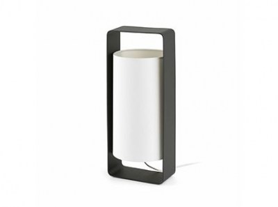 LULA-G Black and white table lamp Faro