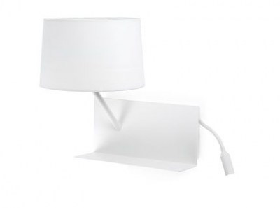 HANDY White wall lamp with LED left reader Faro