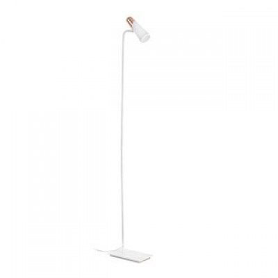 LAO LED White and copper floor lamp Faro