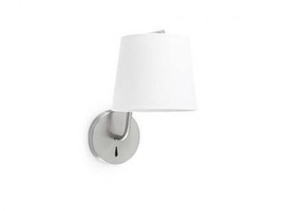 BERNI Satin nickel wall lamp Faro