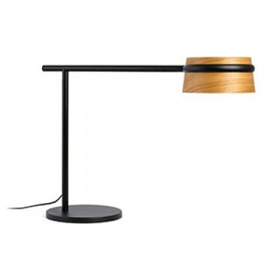 LOOP LED Black table lamp with clip Faro