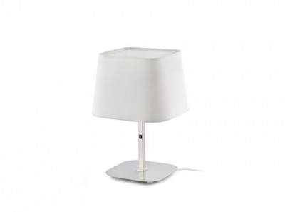 SWEET White and nickel table lamp Faro