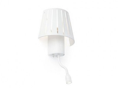 MIX White reading wall lamp with LED reader 1L Faro