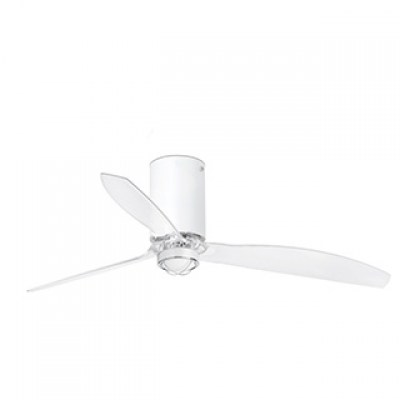 MINI TUBE FAN LED Matt white/transparent ceiling FAN LED with DC motor Faro