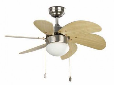 PALAO Matt nickel ceiling fan Faro