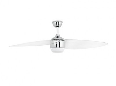 ALASKA LED Matt nickel ceiling fan Faro
