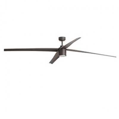 ATTOS LED Brown ceiling fan with DC motor Faro