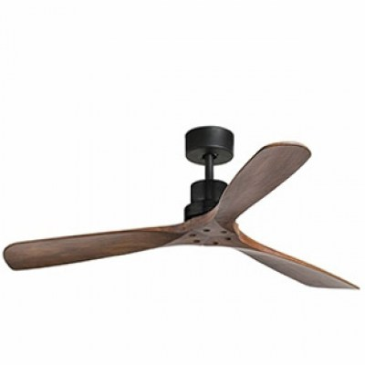LANTAU Matt black ceiling fan Faro