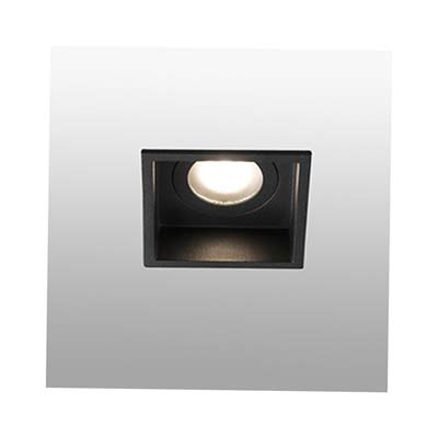 HYDE Black square recessed lamp Faro