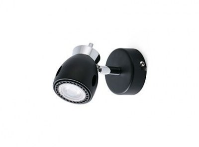 MIKA Black wall lamp 1L Faro