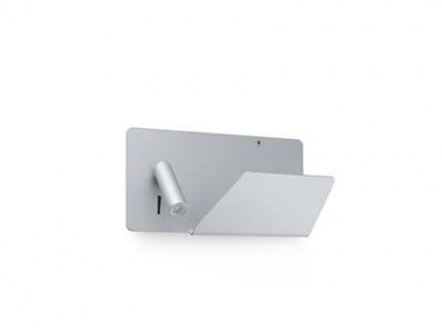 SUAU USB Grey wall lamp with LED right reader Faro