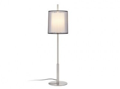 SABA Matt nickel table lamp h 84 mm Faro
