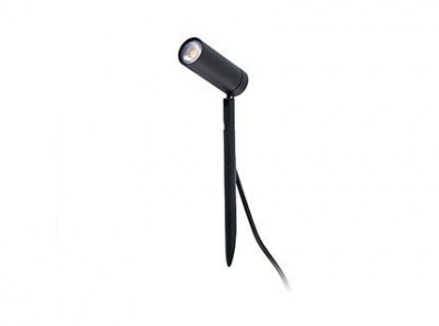SETH LED Black spike lamp H 28cm Faro
