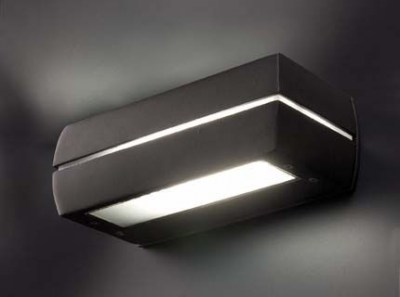 DRAGMA Dark grey wall lamp Faro