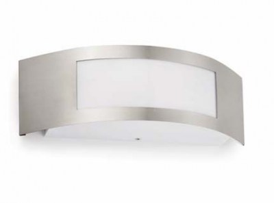 DORVAL-1 Matt nickel wall lamp Faro