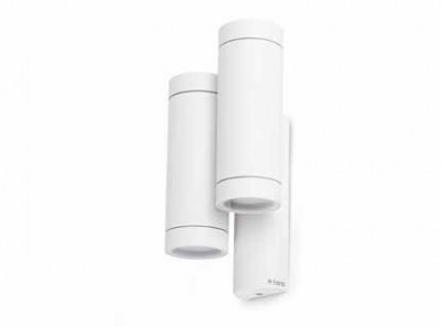 STEPS White double wall lamp GU10 35W Faro