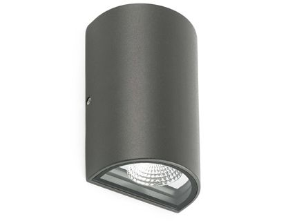 LACE LED Dark grey wall lamp Faro
