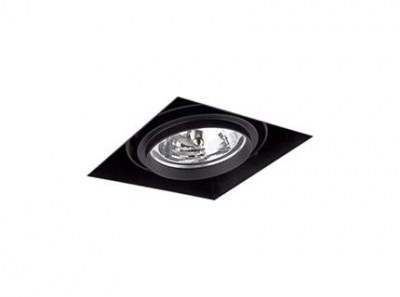 GINGKO-1 Black downlight without frame Faro