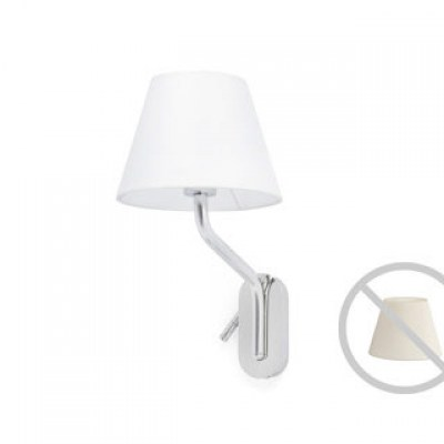 ETERNA Chrome structure wall lamp with right reader Faro