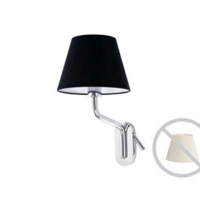 ETERNA Chrome structure wall lamp with left reader Faro
