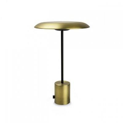 HOSHI LED Satin gold and black portable lamp Faro