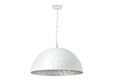 MAGMA-P white and silver pendant lamp Faro