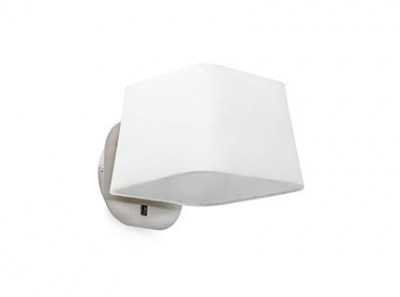SWEET White and nickel wall lamp Faro