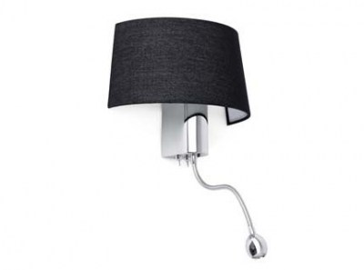 HOTEL Black reading LED wall lamp Faro