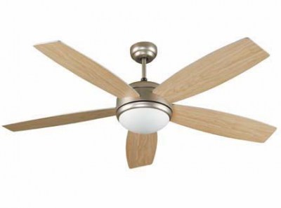 VANU Matt nickel ceiling fan Faro