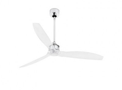 JUST FAN Chrome ceiling fan with DC motor Faro