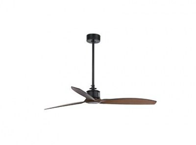 JUST FAN Black/wood ceiling fan with DC motor Faro