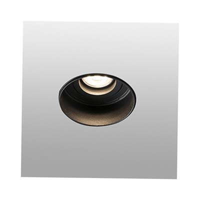 HYDE Trimless black orientable round recessed lamp without frame Faro
