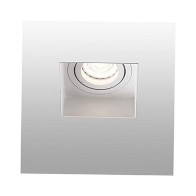 HYDE White orientable square recessed lamp without frame trimless Faro
