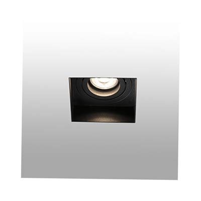 HYDE Trimless black orientable square recessed lamp without frame Faro