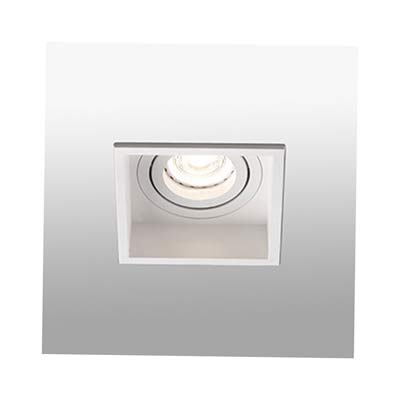 HYDE White orientable square recessed lamp Faro