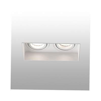 HYDE Trimless white orientable square recessed lamp without frame 2L Faro