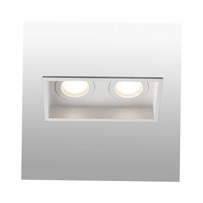 HYDE White square recessed lamp 2L Faro