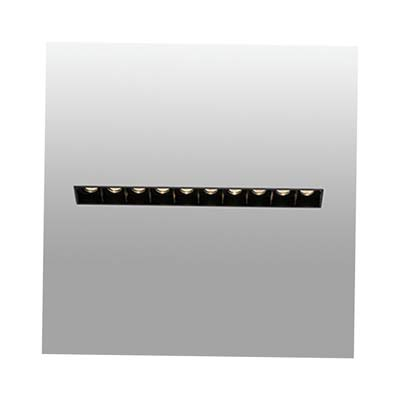 TROOP-10 Trimless black recessed lamp Faro