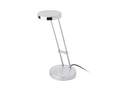 BABA LED Grey office reading lamp with USB Faro
