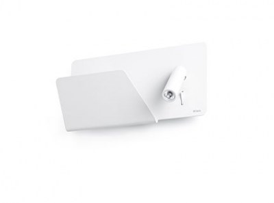 SUAU USB White wall lamp with LED left reader Faro