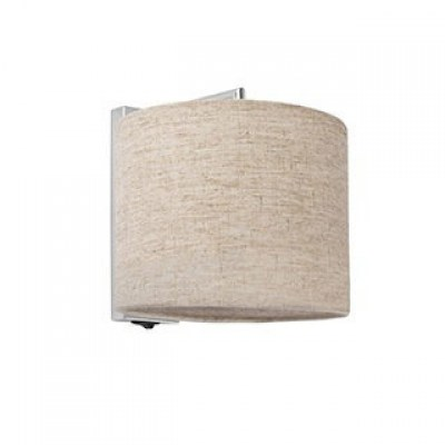SAHARA Chrome/linen wall lamp Faro