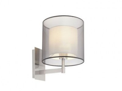 SABA Matt nickel wall lamp Faro