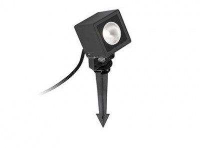 SOBEK LED Black projector with spike Faro