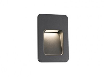 NASE-2 LED Dark grey recessed lamp Faro