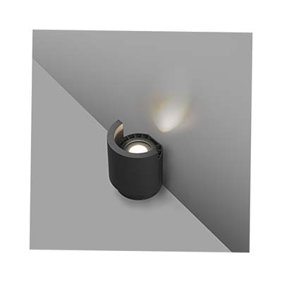 NOBORU LED Dark grey projector lamp/wall lasher Faro