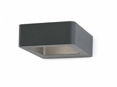 DAS LED Dark grey wall lamp Faro
